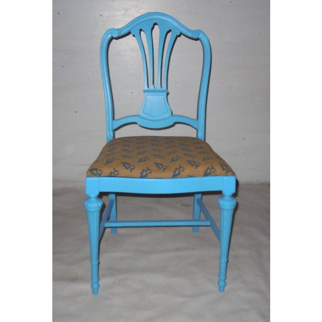Blue Mid-Century Accent Chair - Image 3 of 8