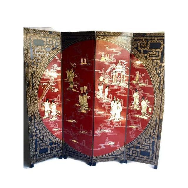 Vintage Chinoiserie Folding Screen - Image 1 of 10