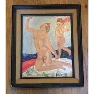 1970s Vintage Venus & Cupid Folk Art Painting Preview