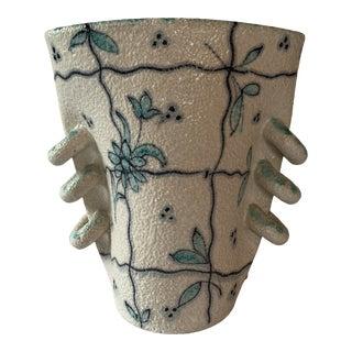 Vintage Italian Fratelli Fanciullacci Pottery Vase For Sale
