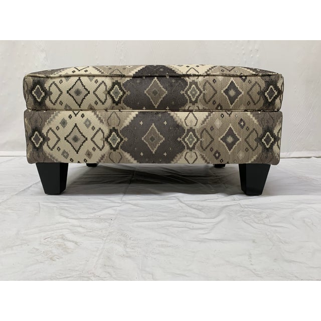 Very handsome and masculine ottoman! Place this ottoman in your study or use in front of your sectional. It will catch...