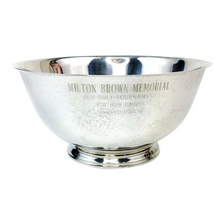 Paul Revere Reproduction Silverplate JCC Golf Trophy Bowl