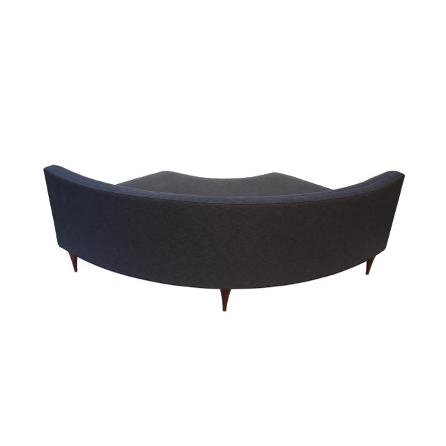 Tufted Mid-Century Settee, Banquette, or Loveseat For Sale - Image 9 of 10