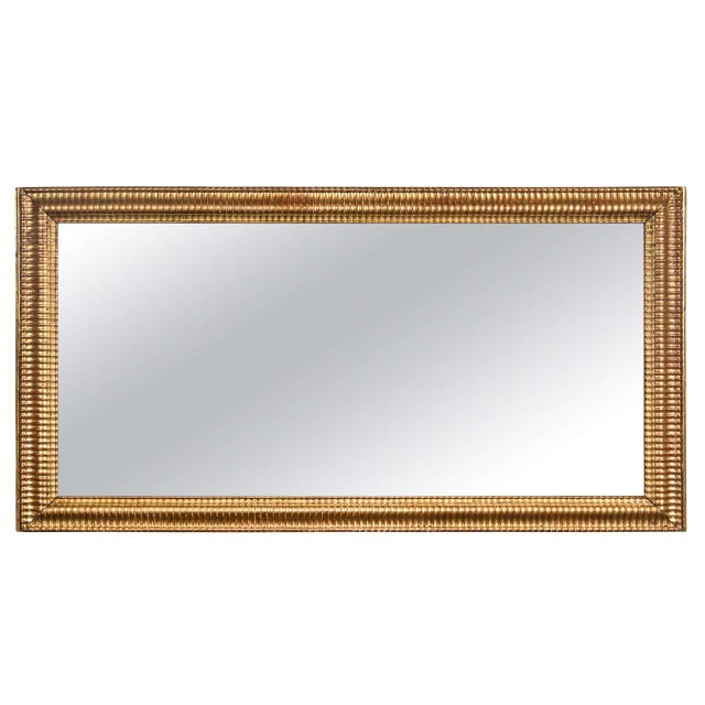 Gilt Gold Fluted Border Mirror - Image 1 of 4