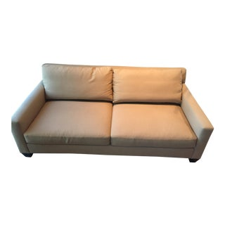 Contemporary International Craft Design Camel Upholstered Sofa or Loveseat