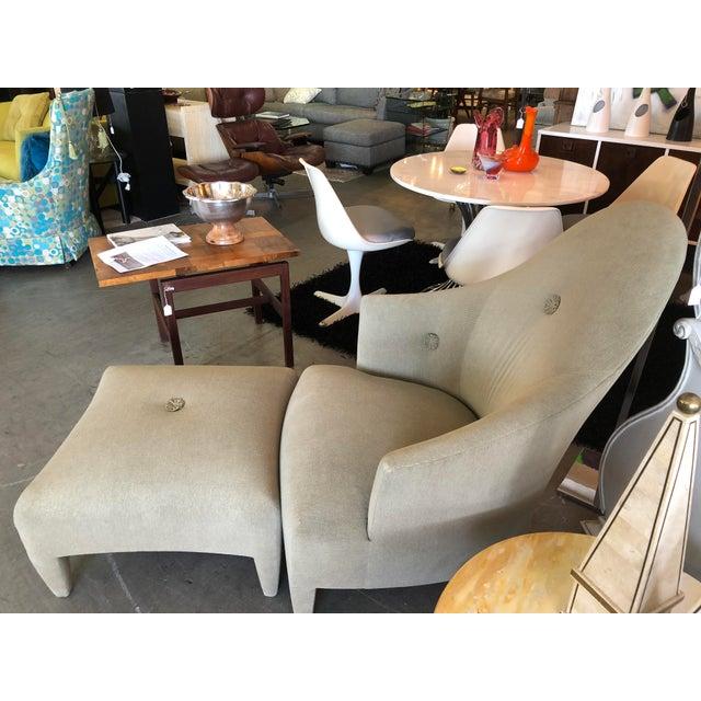 1990s Vintage John Hutton for Donghia Phantom Chair & Ottoman For Sale - Image 9 of 11