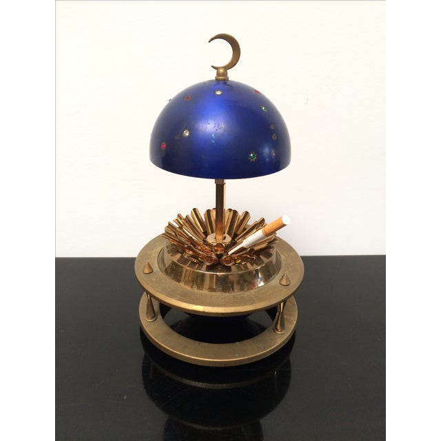 Blue Zodiac Globe Pop-Up Cigarette Holder For Sale In Los Angeles - Image 6 of 8
