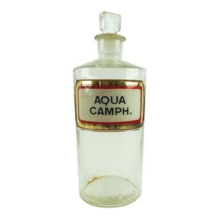 Antique Apothecary Camphor Bottle For Sale