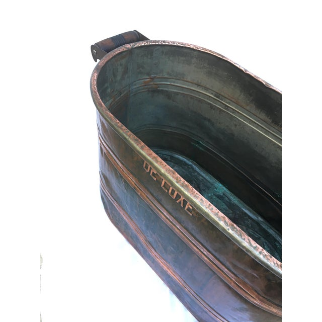 Late 19th Century Antique Copper Boiler De Luxe Wash Basin For Sale In Los Angeles - Image 6 of 9