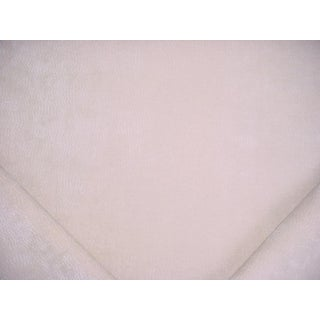 Traditional Holly Hunt Lionheart Ivory Outdoor Chenille Upholstery Fabric - 3-3/8y For Sale
