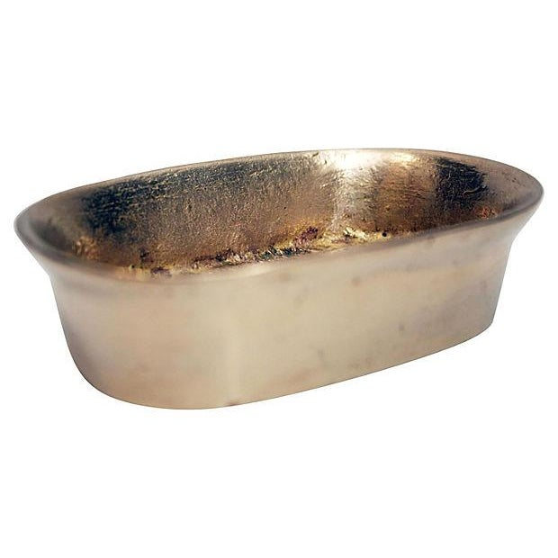Sculptural Brass Soap Dish - Image 2 of 4