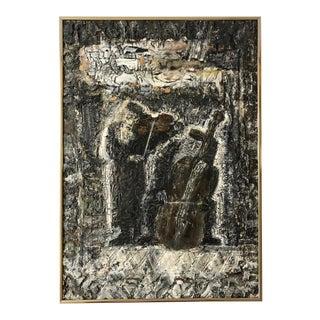 """""""Kapela Zydowski"""" an Expressionist Painting by Zdzislaw Lachur For Sale"""