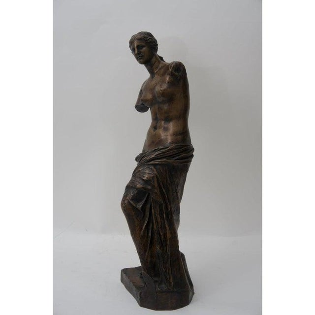 This cast bronze sculpture of the Venus de Milo dates to the 1860s-1880s and was cast by the F. Barbedinne foundry in...