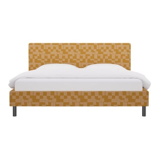 King Tailored Platform Bed in Anni For Sale