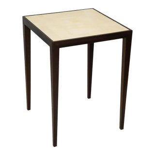 Custom Mahogany Table with Shagreen Top For Sale