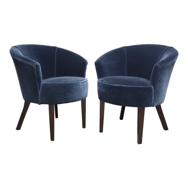 Pair of English George Smith 'Petworth' Tub Chairs in Mohair - Image 1 of 11