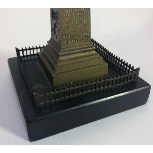 French Bronze Model of Cleopatra's Needle Obelisk For Sale - Image 4 of 11