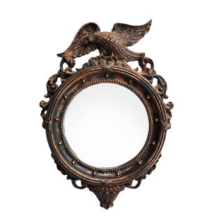 Federal Gilt Admiral Eagle Round Wall Mirror For Sale