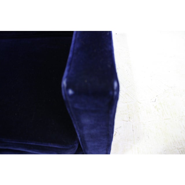 Ward Bennett Sofa in Navy Blue Mohair by Brickell - Image 7 of 7