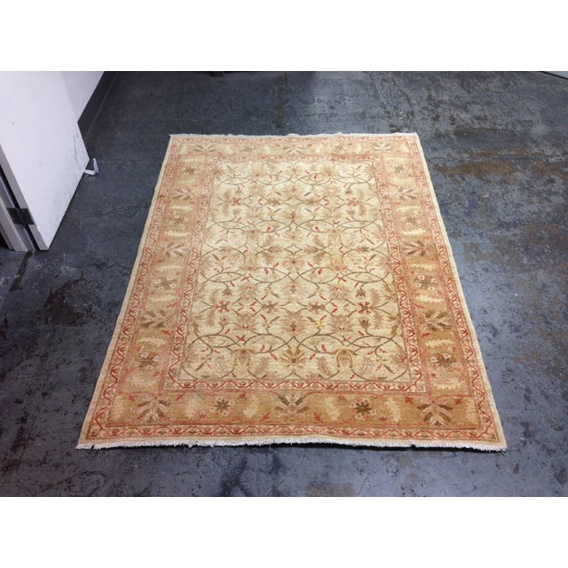 Red & Tan Floral Pattern Area Rug - 8' X 6' - Image 2 of 8