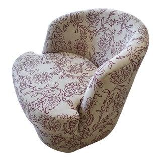Contemporary Floral Circular Chair