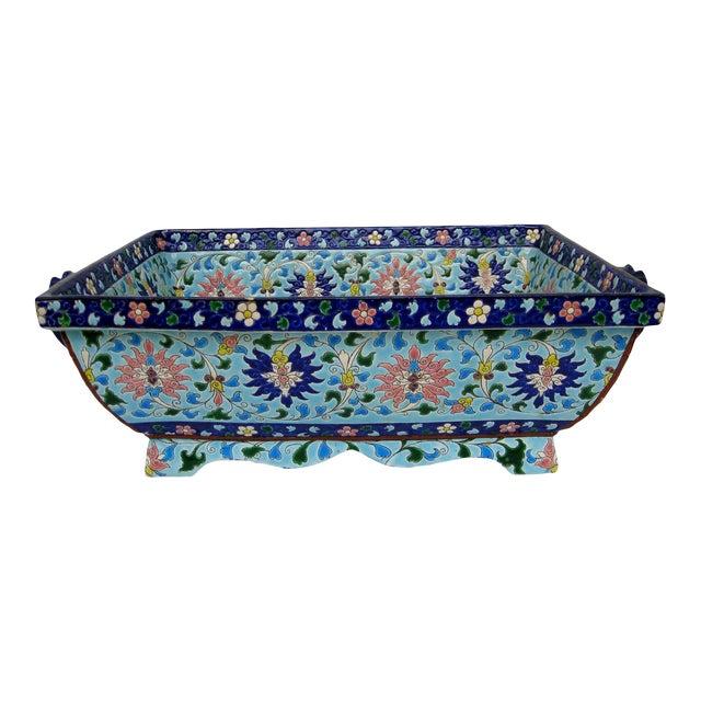 Longwy Ceramic Jardiniere For Sale
