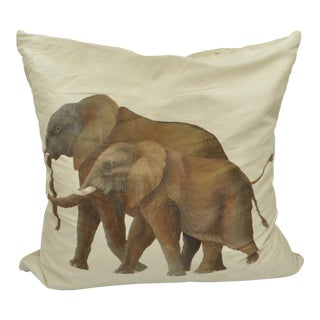 Silk Elephant Pillow From Neiman Marcus For Sale
