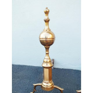 Early 20th Century Rose Brass Andirons - a Pair Preview