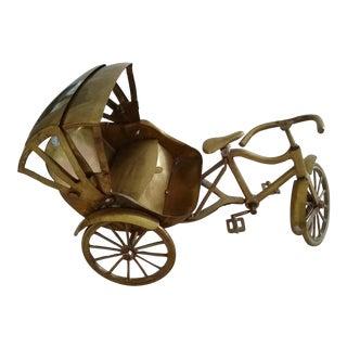 Vintage Brass Rickshaw Model For Sale