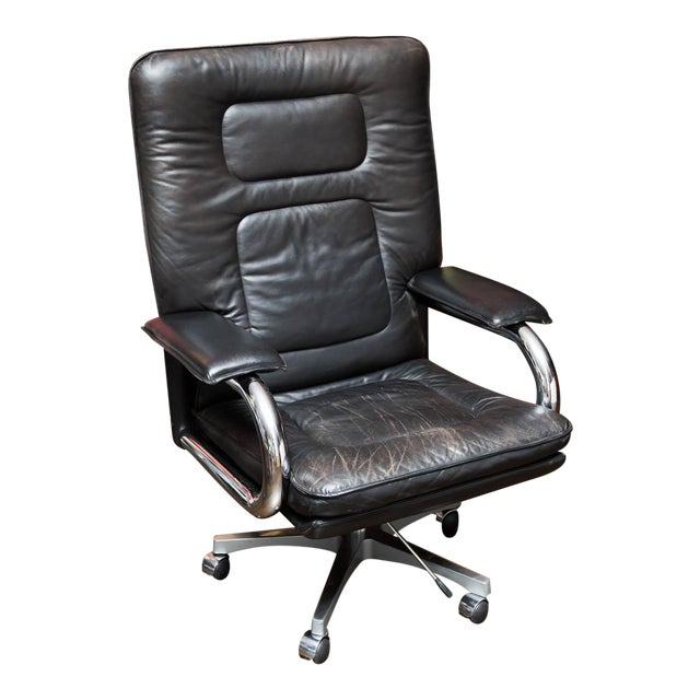 Pace Collection Mariani Leather Executive Chair For Sale