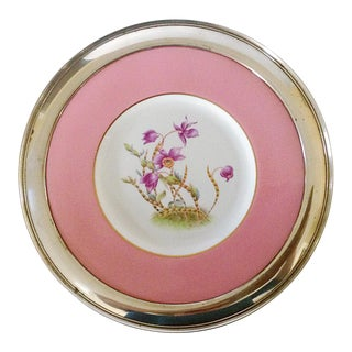 Spode Plate With Shreve Sterling Rim For Sale