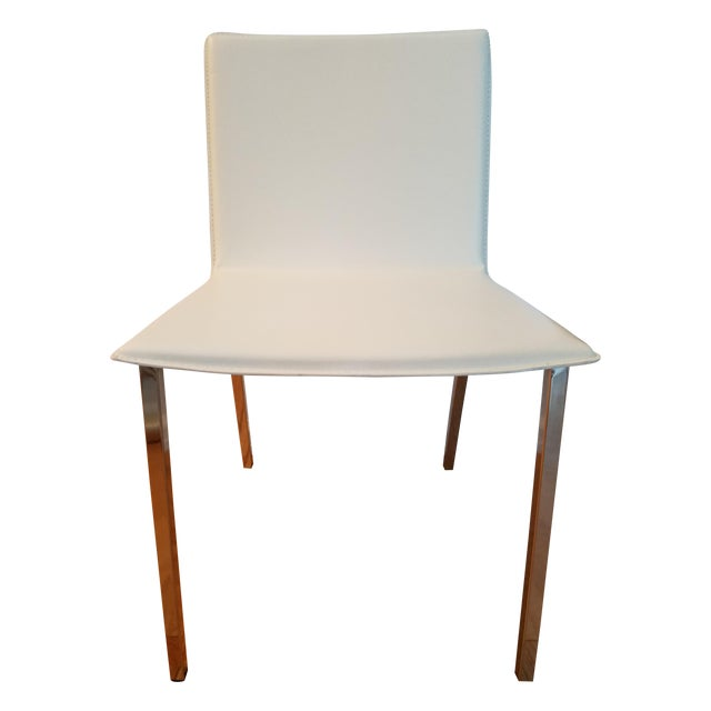 CB2 Phoenix Ivory Chair For Sale