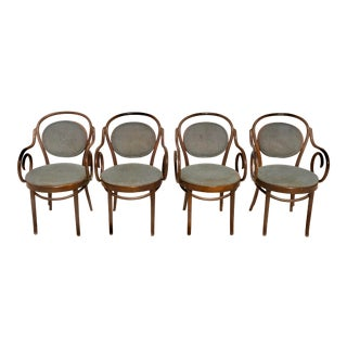 1960s Vintage Shelby Williams Bent Wood Chairs- Set of 4 For Sale