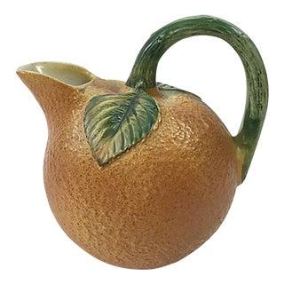Italian Ceramic Orange Pitcher For Sale