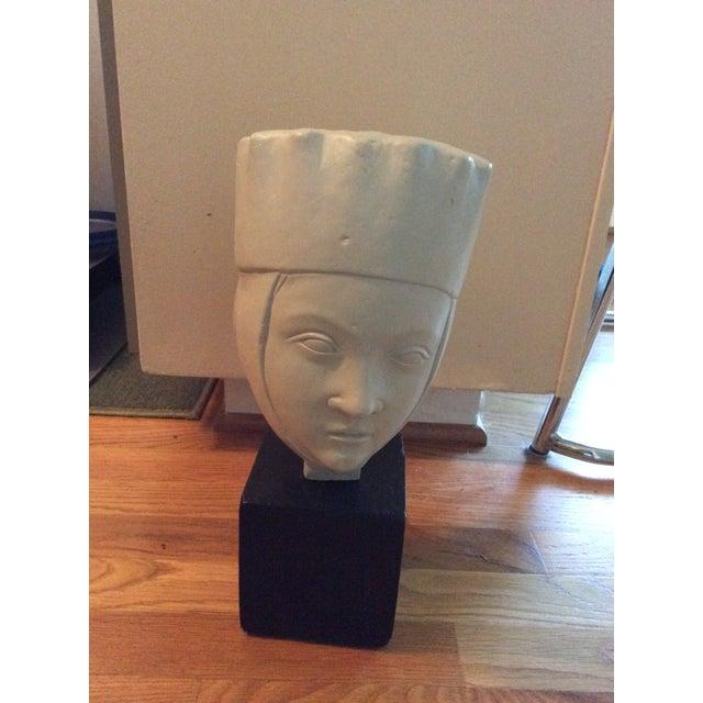 1960s Vintage Alva Studios Woman's Head Sculpture For Sale - Image 10 of 11