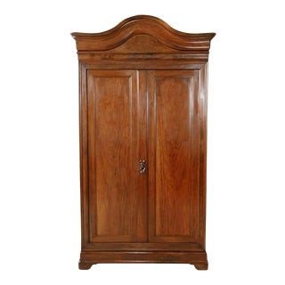 Monumental Louis Philippe Period Solid Walnut Lyonnaise Armoire For Sale