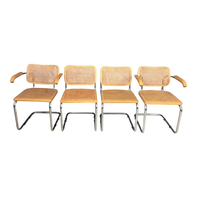 Italian Marcel Breuer Style Chairs - Set of 4 - Image 1 of 7