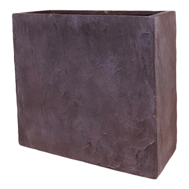 Grey Rectangle Planter With Natural Texture For Sale