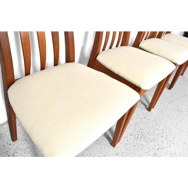 Benny Linden Teak Highback Dining Chairs - 6 - Image 8 of 11
