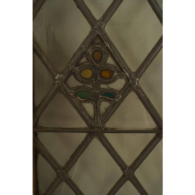 19th Century Large Pair of 19th C. American Leaded Glass Golden Oak Doors For Sale - Image 5 of 9