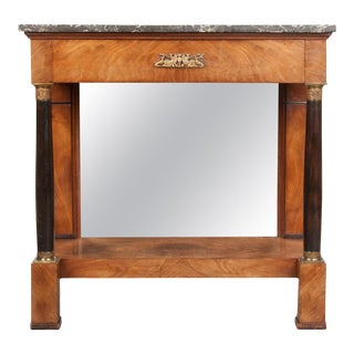 French 19th Century Empire Mahogany Console Table For Sale