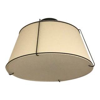 Rejuvenation Conical Drum Semi-Flush Light Fixture in Bronze For Sale