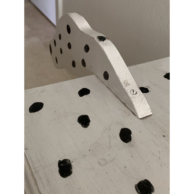 1970s Dalmatian Dog Wooden Table - Handmade For Sale - Image 10 of 13
