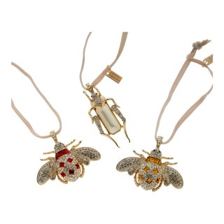 Jeweled Insect Hanging Ornaments - Set of 3 For Sale