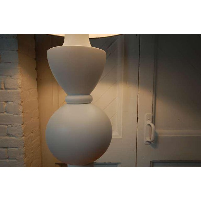 Monumental Balustrade-Form Plaster Table Lamp For Sale - Image 4 of 11