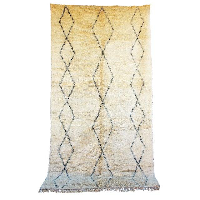 "Vintage Beni Ourain Moroccan Berber Rug - 6'4"" x 11'9"" - Image 1 of 2"
