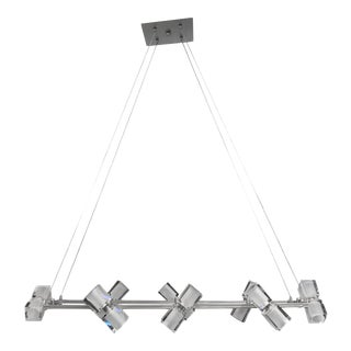 Tech Lighting 16 Lucite Cube Linear Chandelier For Sale