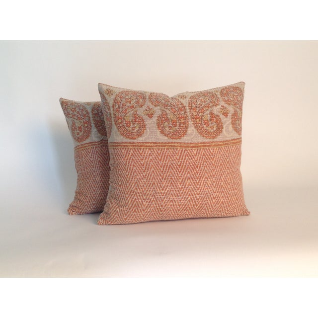 Vintage Block Printed Kantha Quilt Pillows - Pair - Image 2 of 4