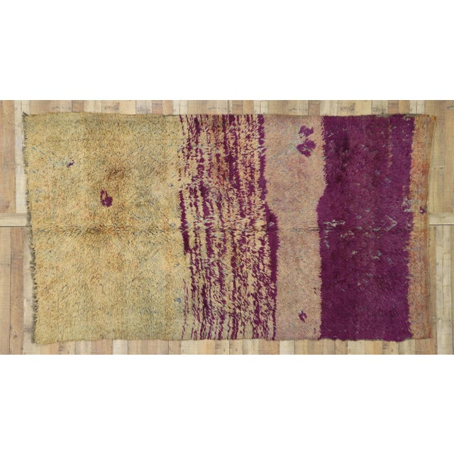 Vintage Berber Moroccan Rug With Postmodern Memphis Style - 05'10 X 10'02 For Sale In Dallas - Image 6 of 12