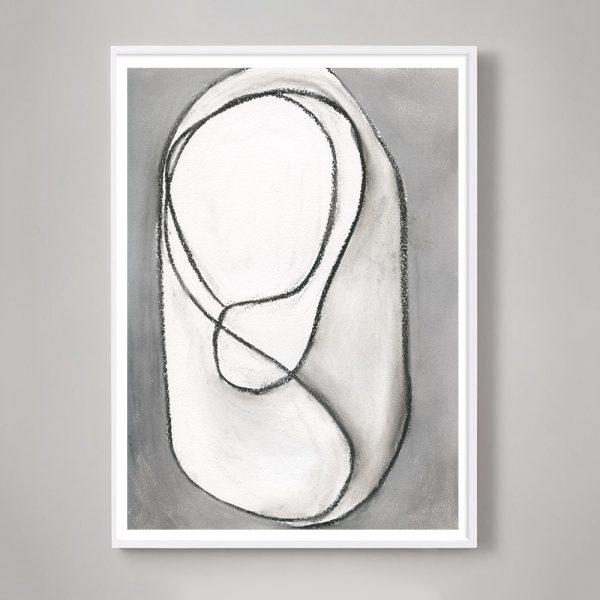 """Abstract Expressionism """"Infinity Drawings No. 2"""" Unframed Print For Sale - Image 3 of 3"""